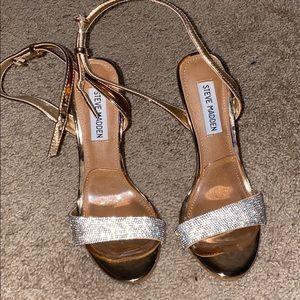 Steve Madden Rose Gold Jeweled Heels